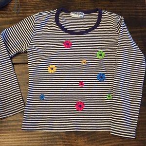 Vintage Y2K Next Era kids stripe floral top hippie